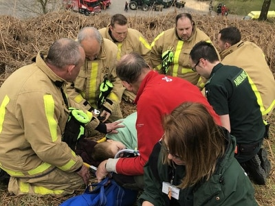 'Outstanding': Parents praise rescuers after James, 6, breaks his hip in Carding Mill Valley fall