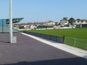 Caernarfon Town's home ground, the Oval. Pic: Jaggery www.geograph.org.uk