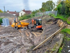 Unstable path stops work on new house in Broseley - with pictures