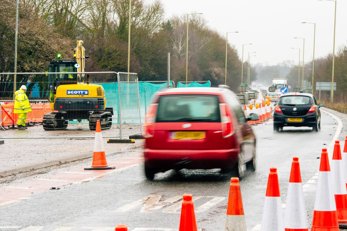 Roadworks began in March