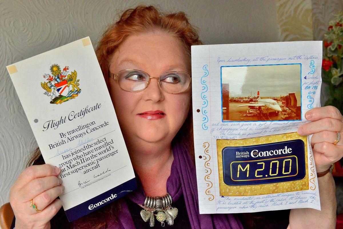 Sue Adams recalls her supseronic flight across the Atlantic