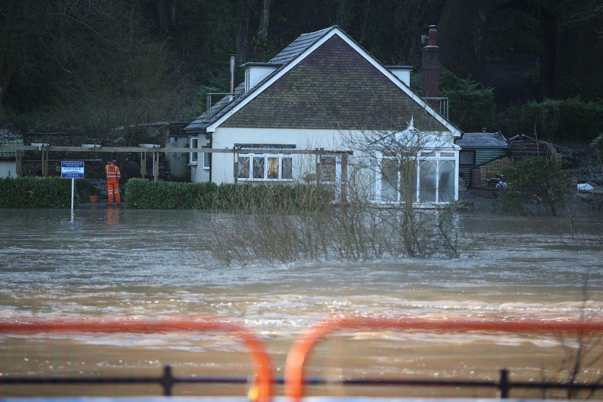 Flooding in Ironbridge. Nick Potts/PA Wire.