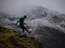 This football freestyler will attempt to juggle a football while climbing up Everest
