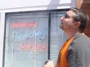 Joe Shooman at Sun Studios, Memphis, where Elvis recorded.