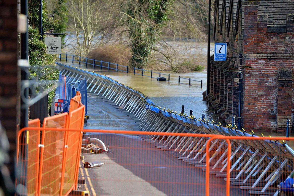 There have been calls for permanent flood defences in Ironbridge