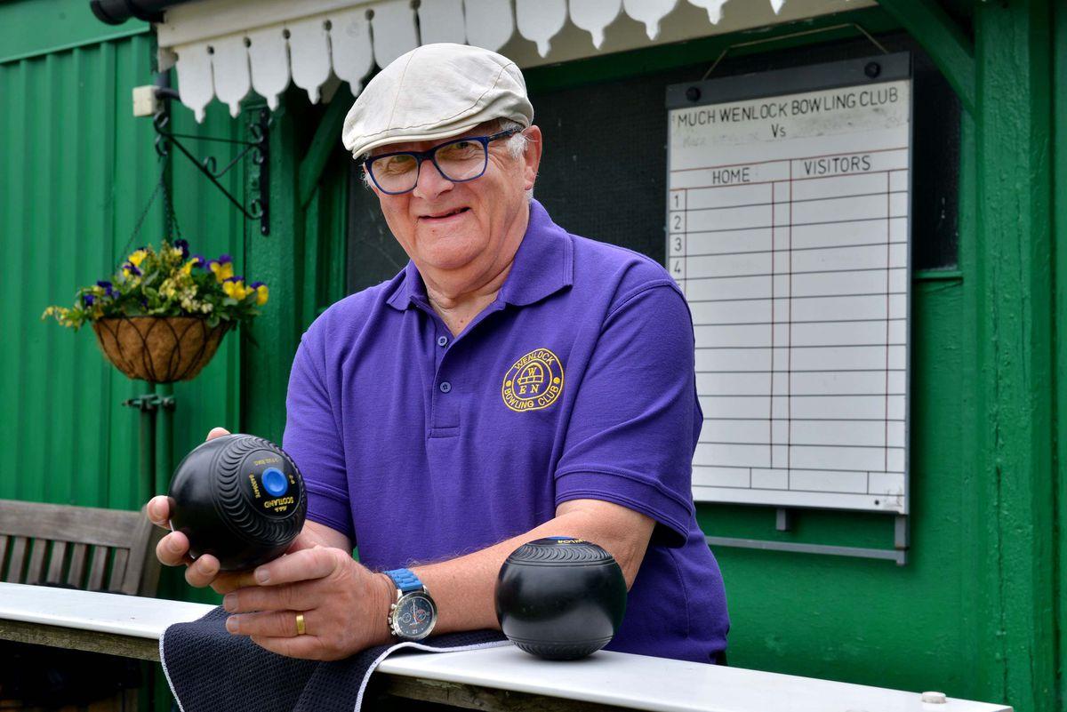 Mervyn Jarman, secretary of Much Wenlock Bowling Club
