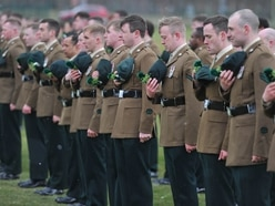 Irish Battalion parade at Clive Barracks to celebrate St Patrick's Day