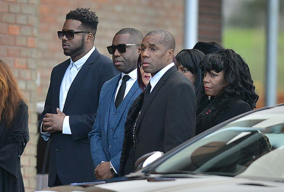 Dalian Atkinson's family arrive at his funeral in 2016