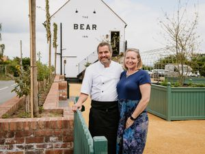 Martin and Mel Board at the Bear Inn in Hodnet
