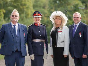 Trevor Bate, Lord-Lieutenant of Shropshire Mrs Anna Turner, Amanda Medlyn & Nigel Dugmore