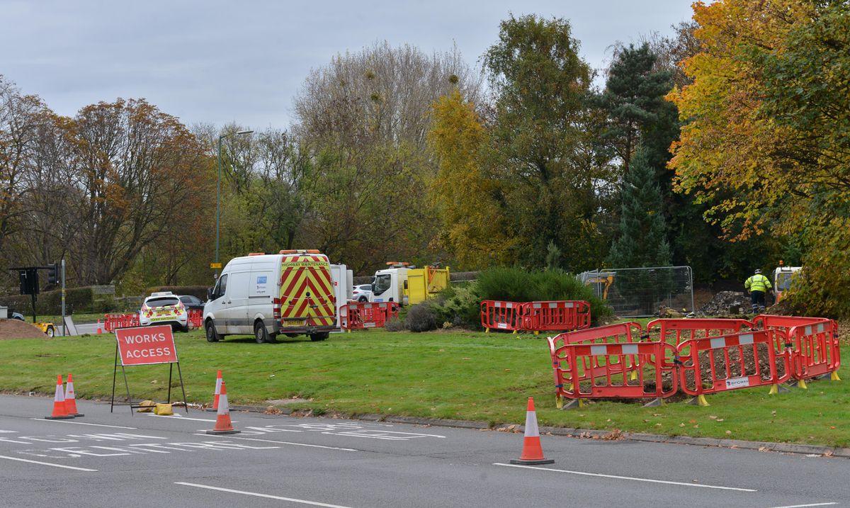 The roadworks getting underway