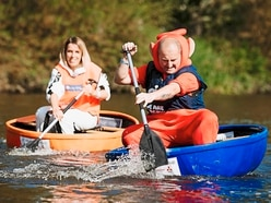 Shrewsbury coracle fun puts racers in real spin - with pictures