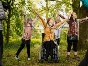 Highflyers Youth Dance Company members are filming at Copthorne Park in Shrewsbury for wider dance project