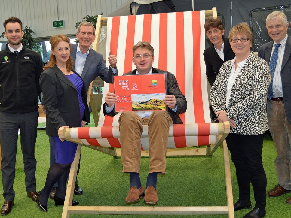 MP takes the chair to promote Shropshire tourism
