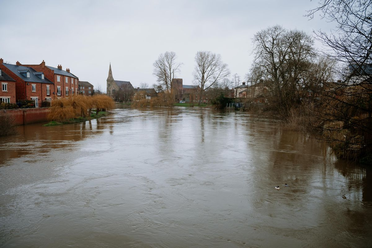 The River Severn could flood again in parts of Shrewsbury today
