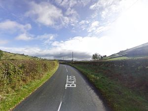 The B4355 at Dolfor. Pic: Google