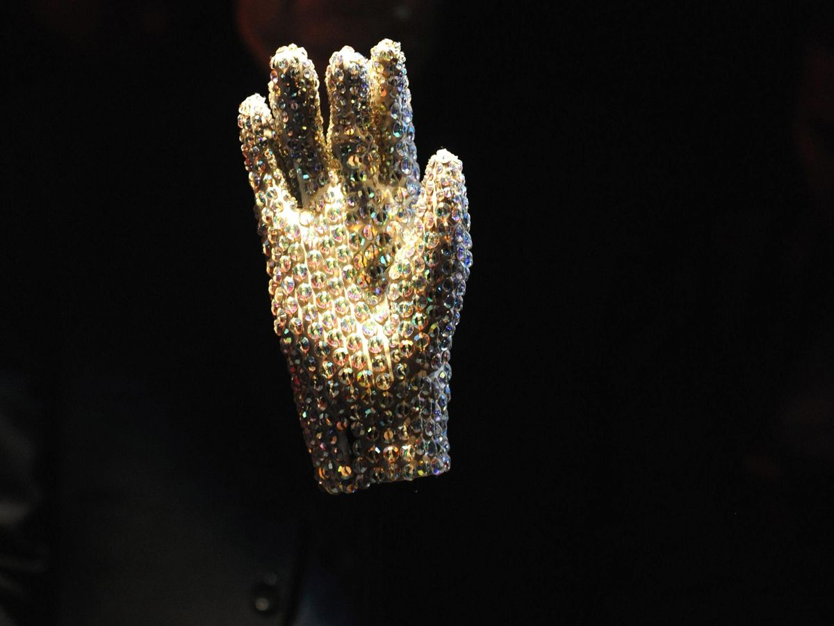 A glove worn by Michael Jackson to the 1983 Grammy Awards