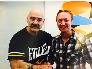 Charles Bronson and Shropshire author Richard Booth