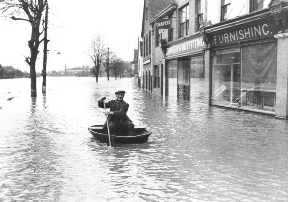 Ironbridge, in the floods of 1947