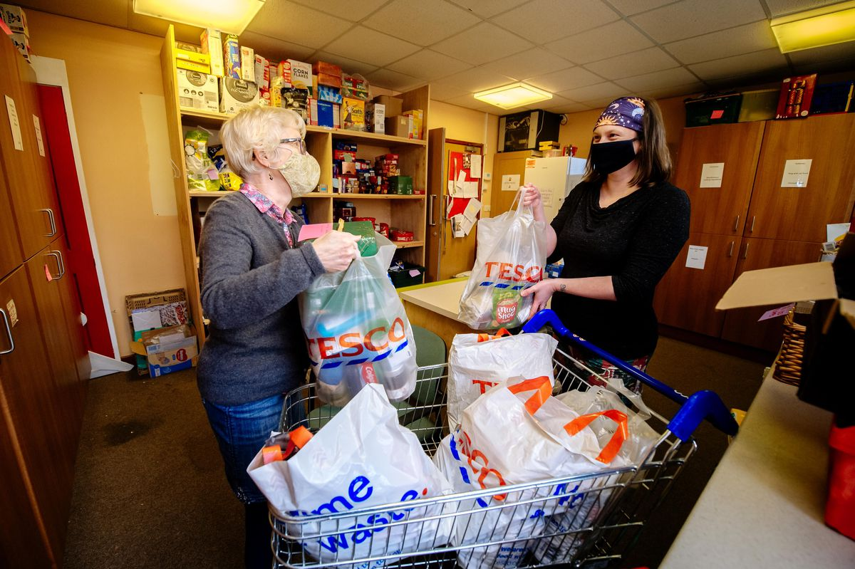 Claire Whitehead and Lucy Lewis, volunteers at Ludlow Food Bank
