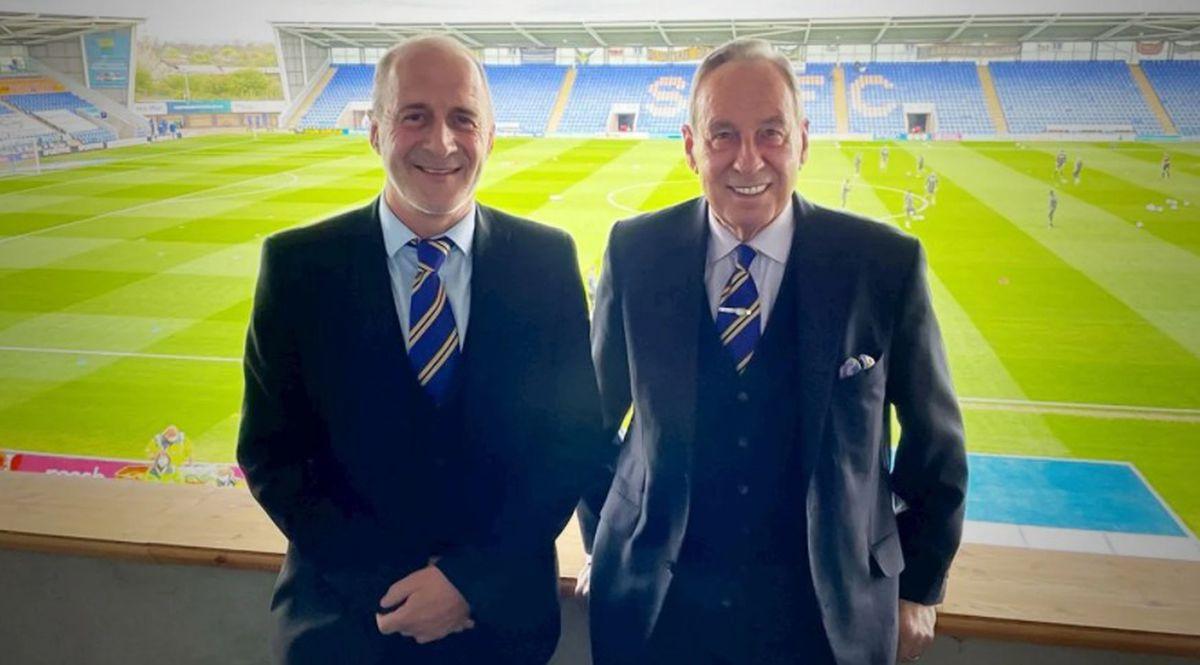 Shrewsbury chairman Roland Wycherley, right, with new vice-chairman Paul Delves