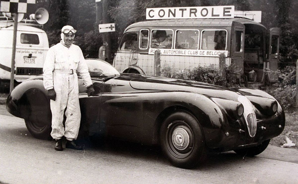 Norman Dewis in his days as a Jaguar test driver