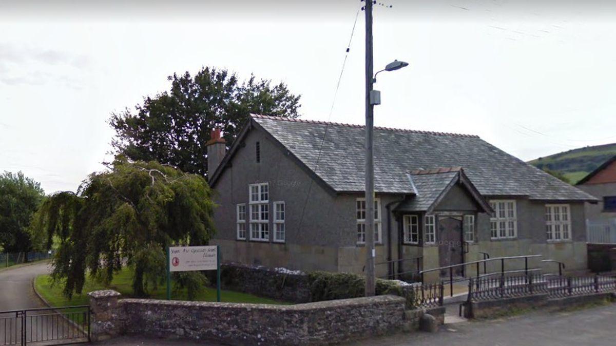 Ysgol Bro Cynllaith in the village of Llansilin