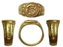 Decorated Tudor ring found in Shropshire declared treasure