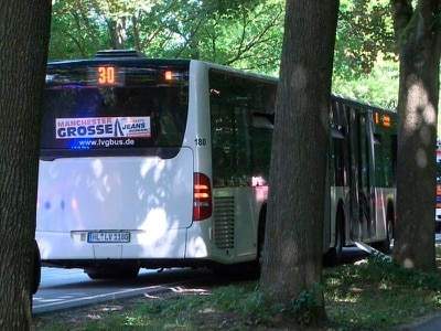 Man arrested after knife attack on German bus
