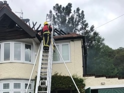 Pair escape blaze which leaves home severely damaged