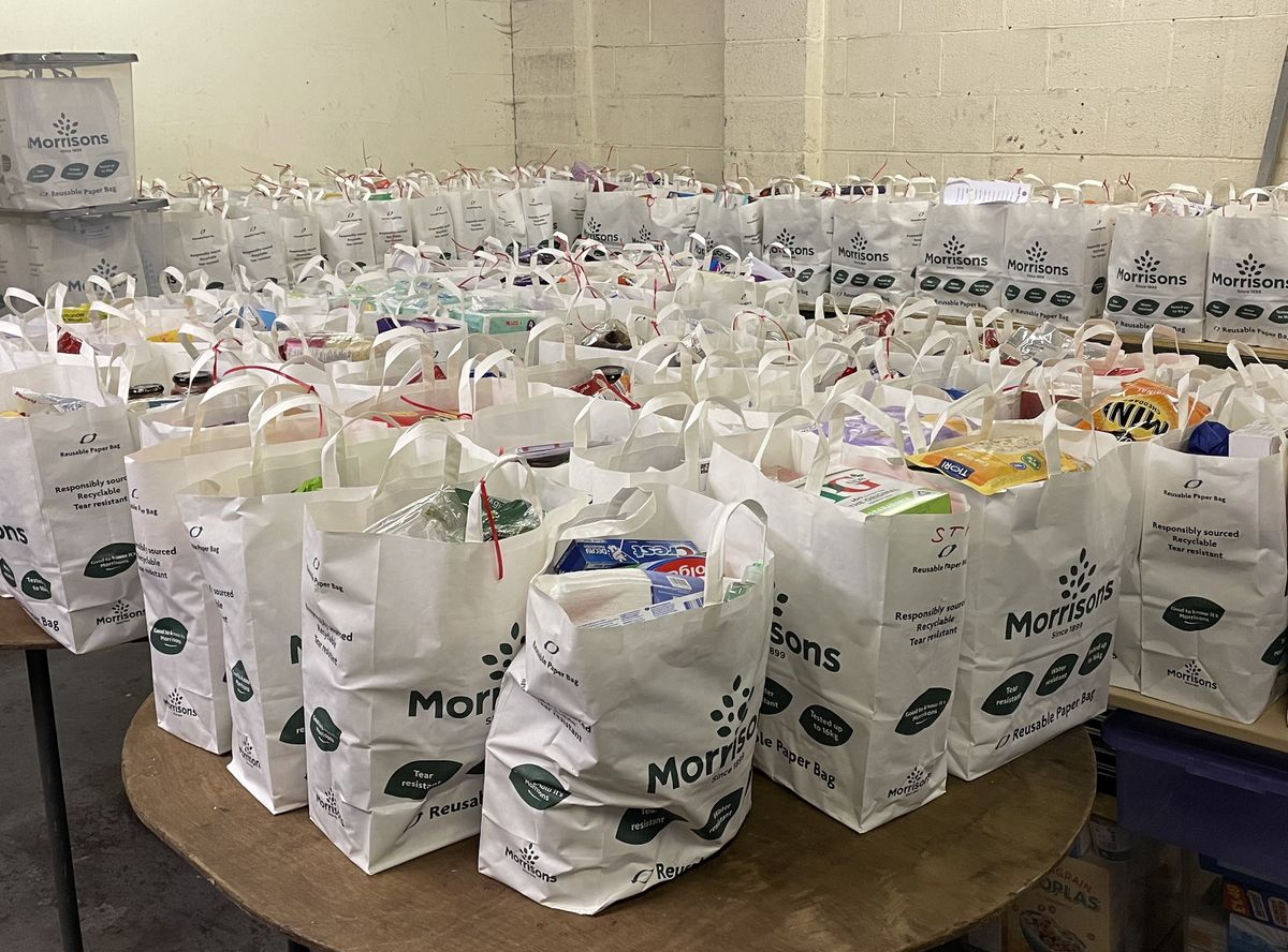 450 food parcels were delivered last year