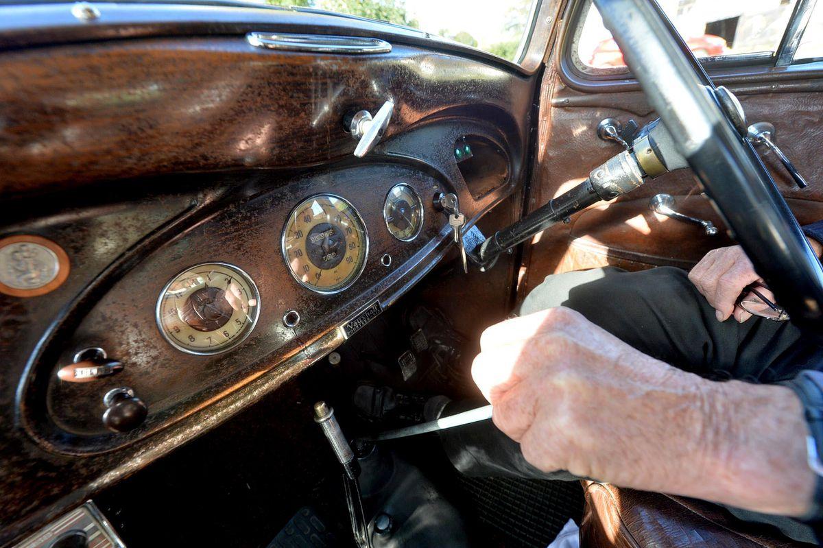 Inside the 1937 Vauxhall 14