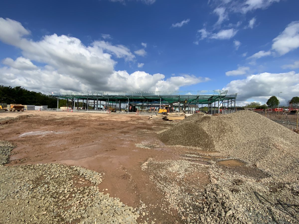 Work taking place on the new Ludlow Sainsbury's store