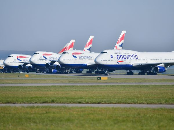 British Airways planes at Cardiff Airport