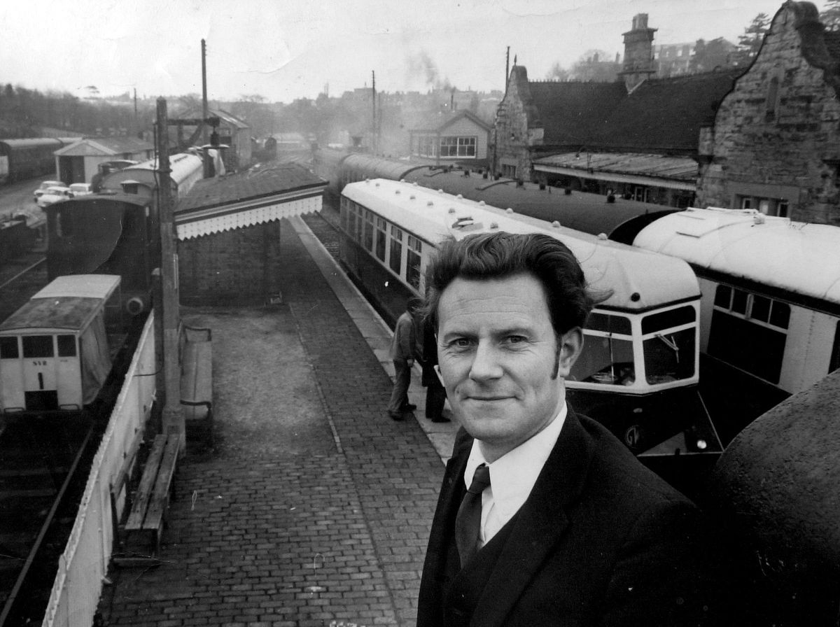 Keith Beddoes, who dreamt of reviving the SVR, at Bridgnorth station in 1970 as the dream began to come true.