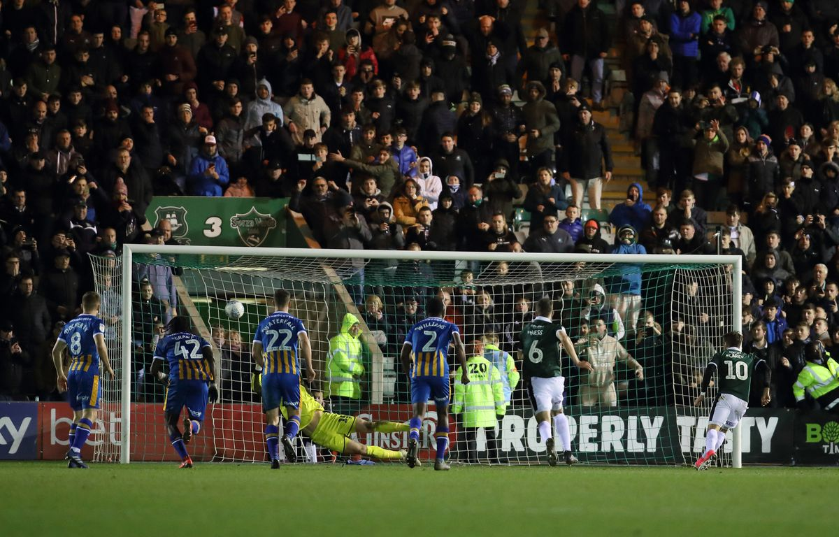 Shrewsbury Town will be keeping an eye on the outcome of Plymouth Argyle's Covid-19 testing ahead of Saturday's trip to Devon (AMA)