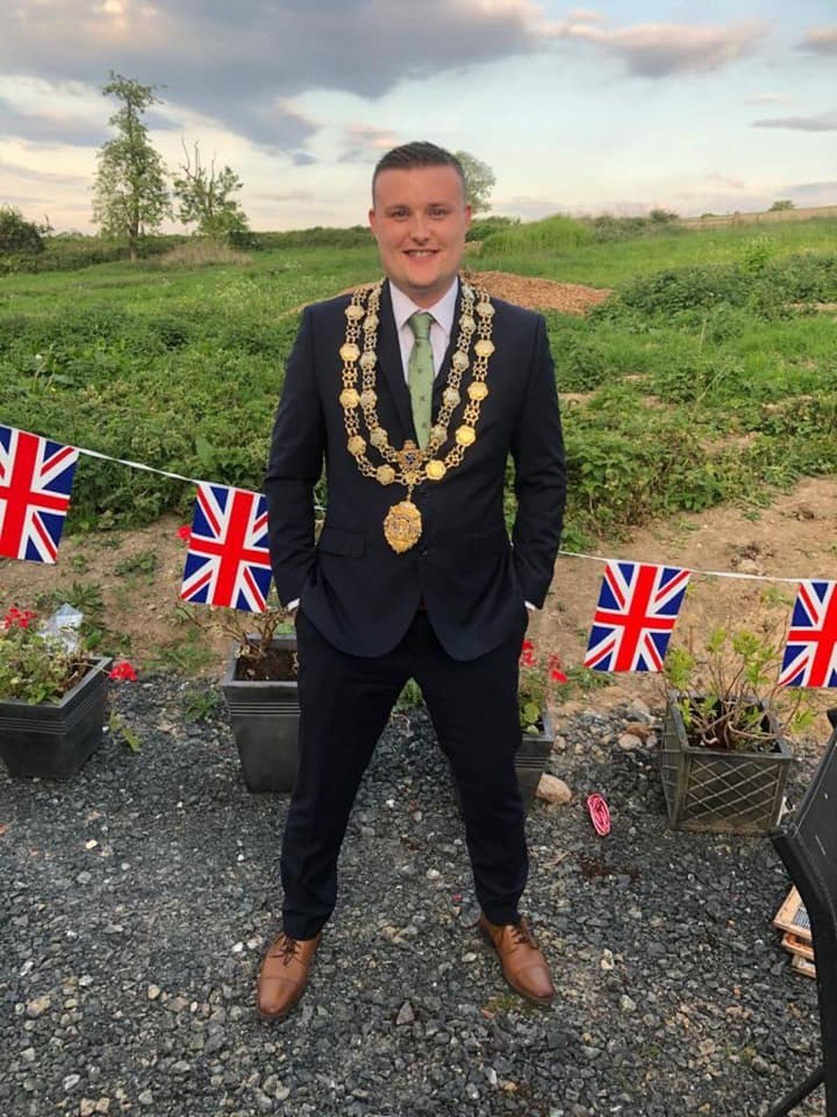 Much Wenlock mayor, Councillor Dan Thomas.