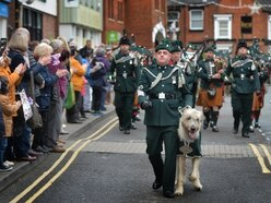 1st Battalion The Royal Irish Regiment: Crowds out in force for Shropshire homecoming parade