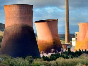 The Ironbridge Power Station's landmark towers were demolished in 2019