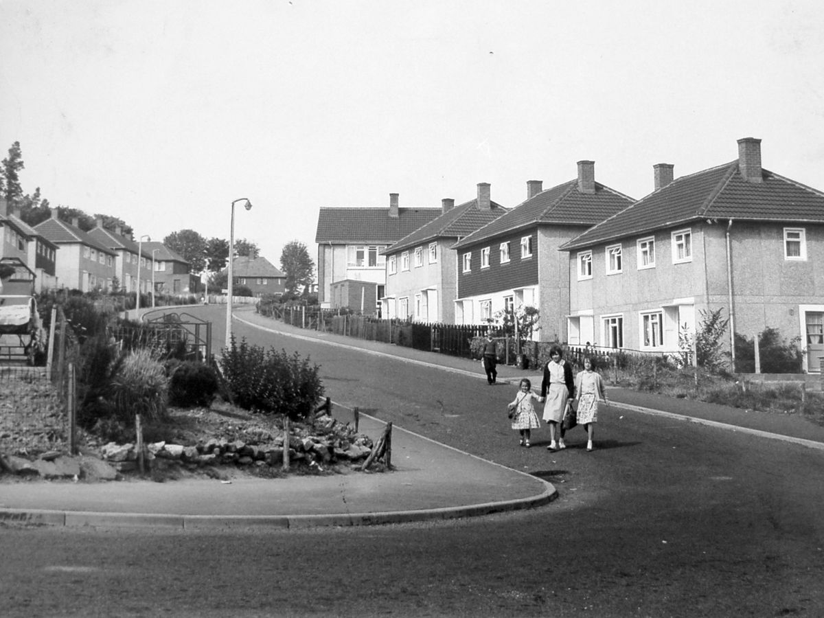 """New housing dubbed """"little Birmingham"""" in Dawley in July 1961 – it was built to house incoming families from Birmingham."""