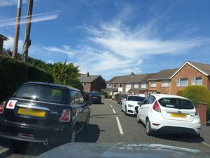 Cars parked in Church Stretton blocked pavements, roads and driveways