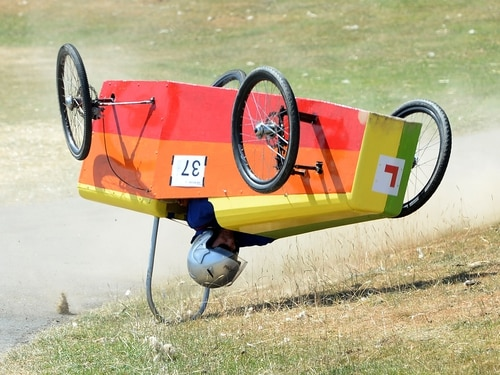 'I kept catching glimpses of the sky': Ludlow racer unscathed after Soap Box Derby crash - in pictures