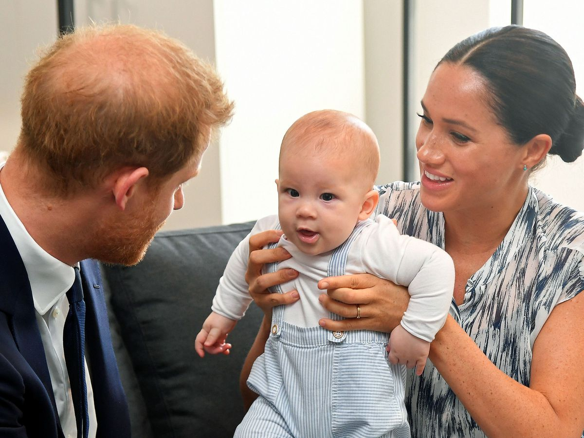 The Duke and Duchess of Sussex with baby Archie