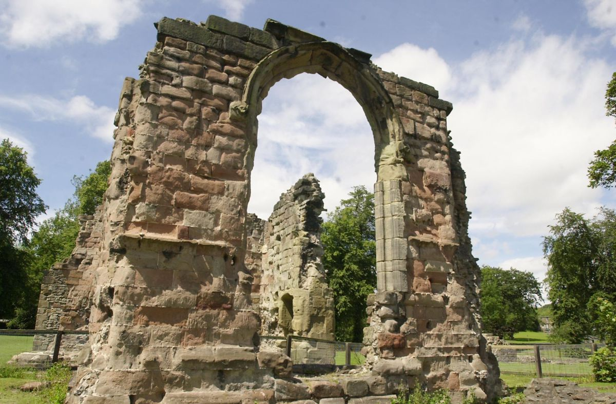 St James Priory in Dudley fell into a state of ruin after being dissolved by Henry VIII