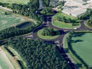 An artist's impression of how the relief road could look