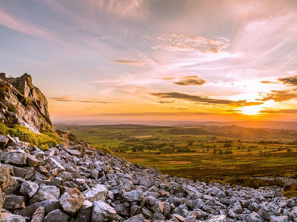 SOUTH COPYRIGHT SHROPSHIRE STAR JAMIE RICKETTS 10/07/2015  Sunset - 09.07.15 - Taken from the top of Stiperstones Hill in Shropshire - Stiperstones Nature Reserve.
