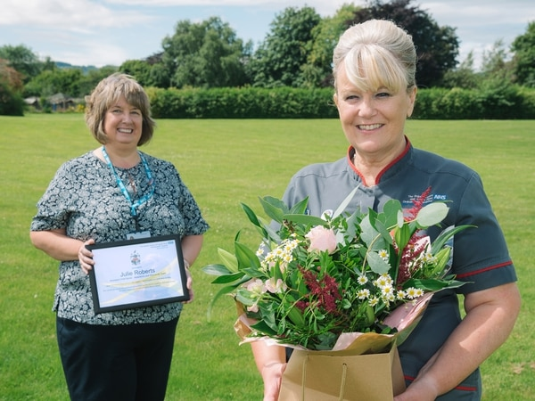 Shropshire nurse hangs up her uniform to retire after almost four decades