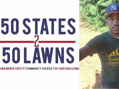 This man is mowing 50 lawns in 50 states to encourage kids to help their communities
