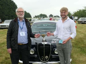 David Barzilay and Harry Ruffell Hazel at the Concours held at the Belfry Hotel near Oxford