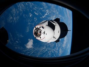 Lift-off is currently set for this weekend from Florida's Kennedy Space Centre (Nasa via AP)